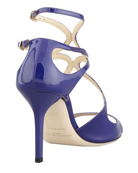 Ivette Patent Strappy Sandal, Purple