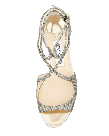 Inka Metallic Wedge Sandal, Bronze