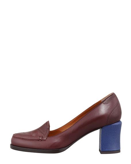 Oxford Colorblock Low-Heel Pump