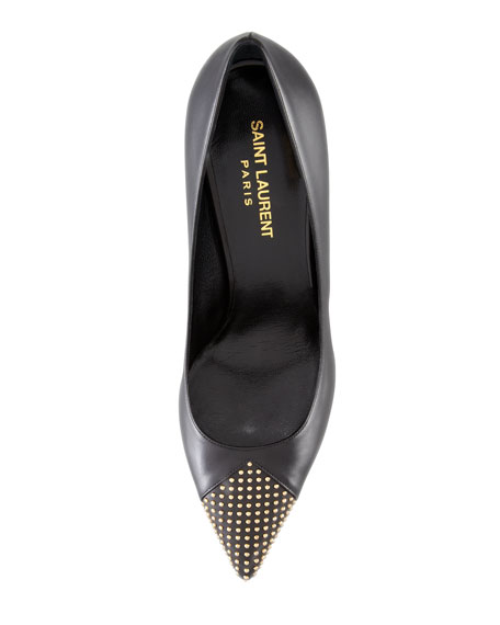 Paris Studded Cap-Toe Pump