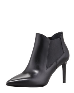 Saint Laurent Paris Gored Pointy-Toe Bootie