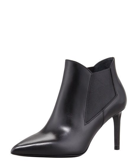 Paris Gored Pointy-Toe Bootie