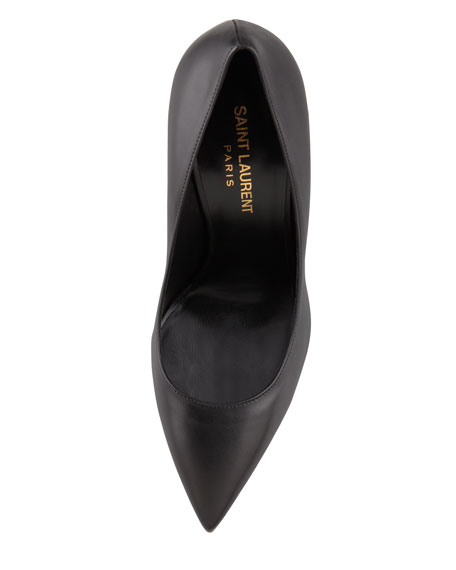 Paris Kidskin Pointed-Toe Pump, Black