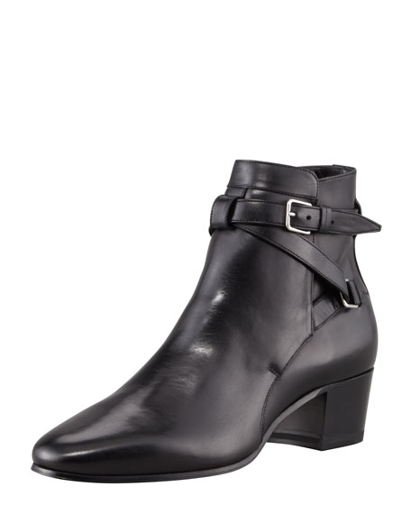 Belted Leather Jodhpur Bootie