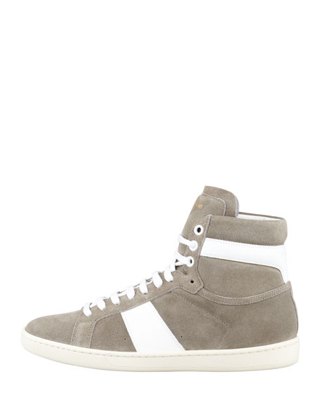 Suede High-Top Sneaker
