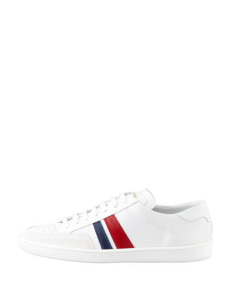 Striped Mesh Low-Profile Sneaker