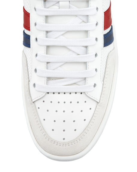 Mesh-Leather High-Top Sneaker