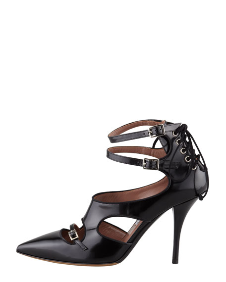 Heather Banded Spazzolato Pump, Black