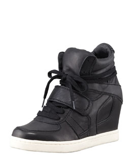 Ash Cool Hidden-Wedge High-Top Sneaker, Black