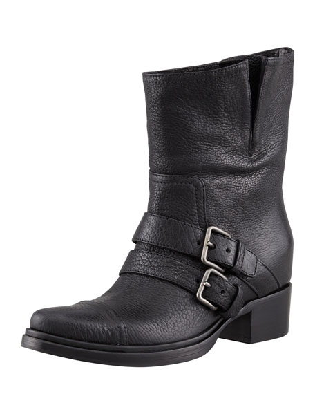 Two-Buckle Motorcycle Boot