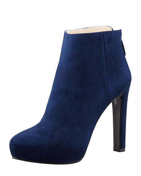 ad51ca16c086 Prada Suede Hidden-Platform Ankle Boot