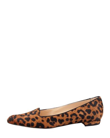 Sharifma Leopard-Print Calf Hair Slipper