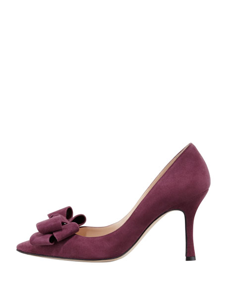 Lisanew Suede Pump, Plum