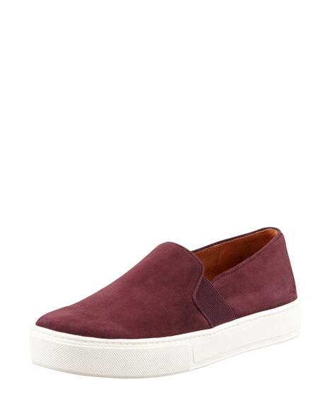 Blair Suede Slip-On Sneaker, Pomegranate