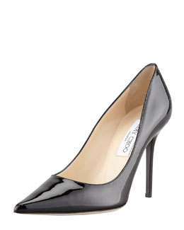 Jimmy Choo Abel Patent Pointy Pump, Black