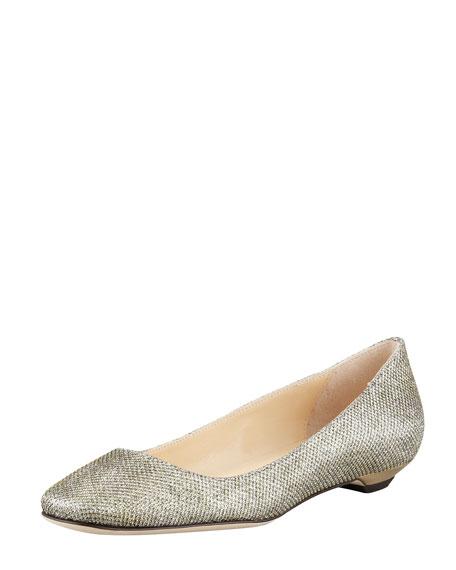 Finlay Glittery Ballerina Flat, Bronze