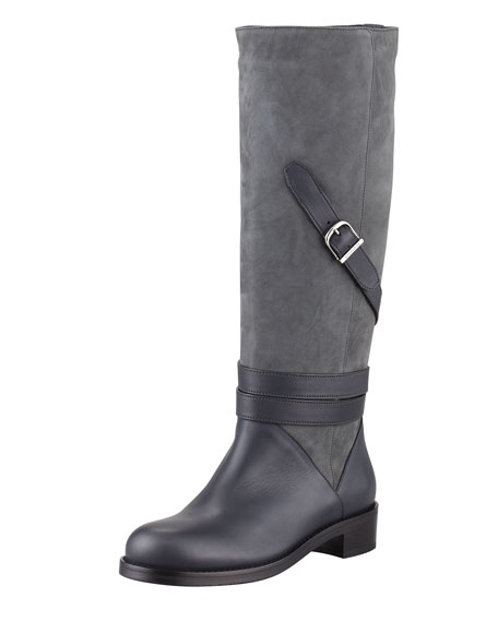 Darla Two-Tone Belted Boot