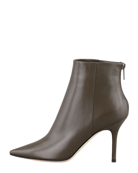 Amore Pointed-Toe Ankle Boot, Charcoal