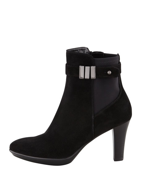 Royal Suede Stretch Bootie