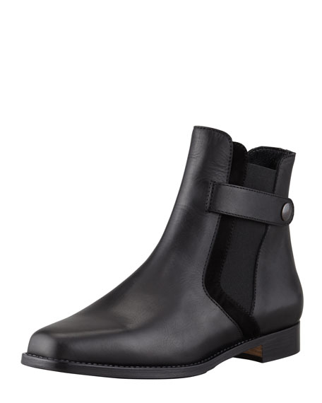 Arsta Gored Flat Ankle Boot