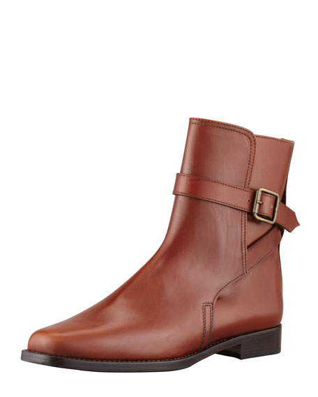 Sultana Flat Buckled Ankle Boot