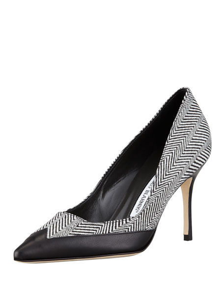 Snaga Herringbone Point-Toe Pump