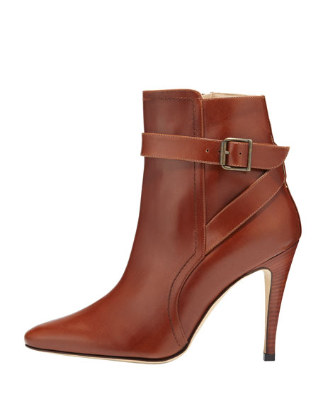 Ribafa Buckled Ankle Boot, Medium Brown