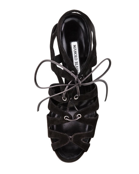 Netochka Lace-Up Cage Sandal