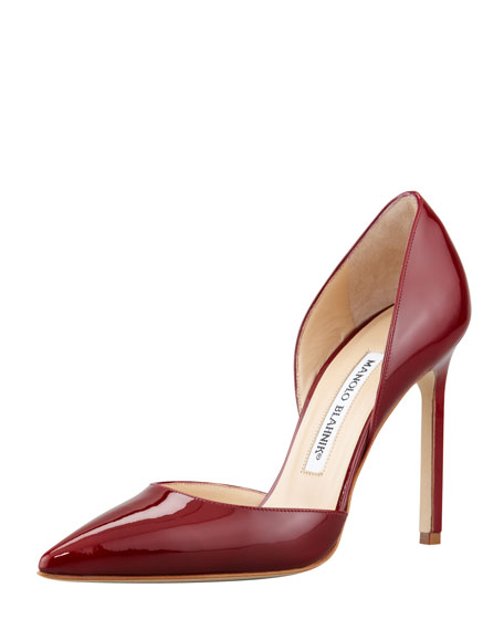 Tayler Patent Pointed d'Orsay Pump, Wine