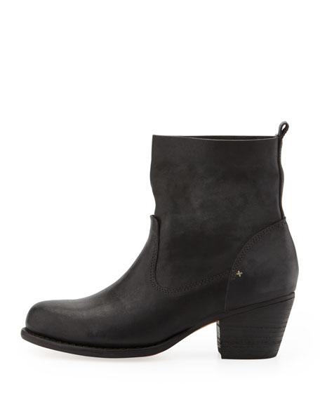 Mercer Leather Ankle Boot, Black
