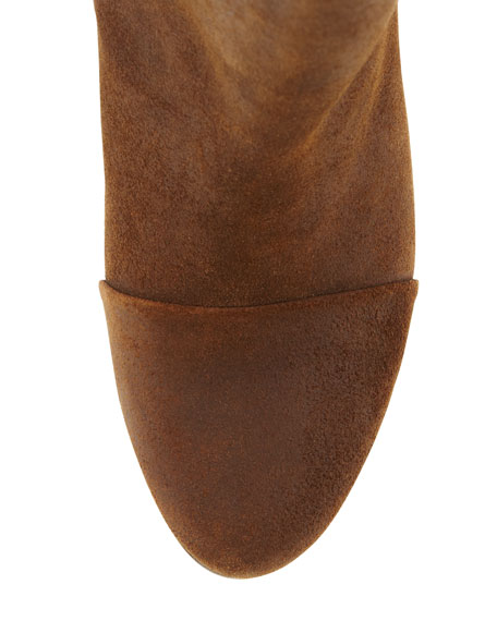 Kinsey Waxed Suede Bootie, New Brown