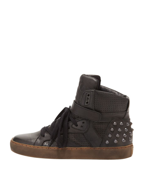 Cool Perforated Stud-Back High-Top, Black