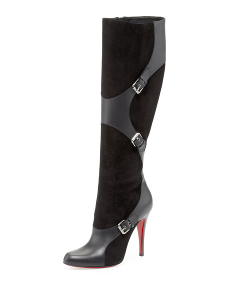 Suede-Leather Harness Boot
