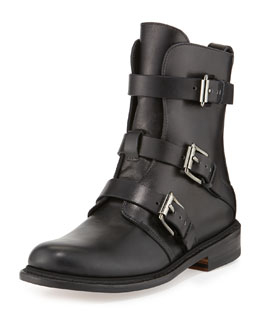 Rag & Bone Hudson Short Buckled Moto Boot