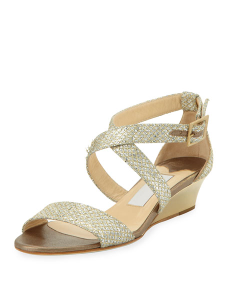 Chiara Demi Wedge Crisscross Sandal