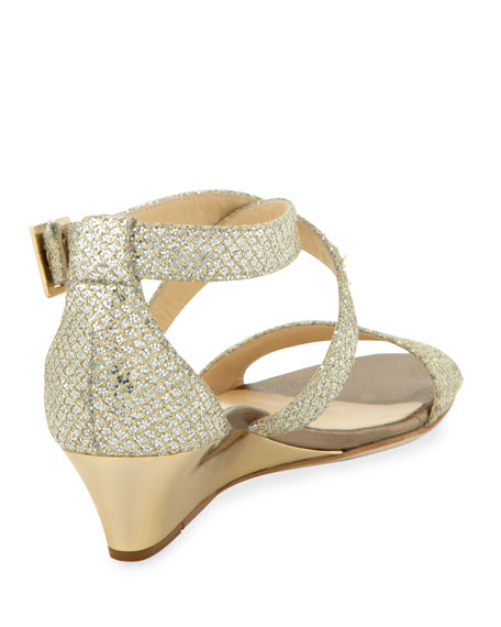 2bb420e2757e Jimmy Choo Chiara Demi-Wedge Crisscross Sandal