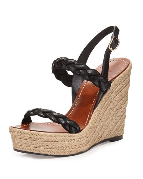 Twisted Espadrille Wedge Sandal
