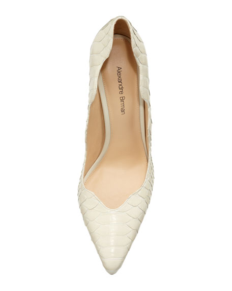 Scalloped Python Pointy Pump