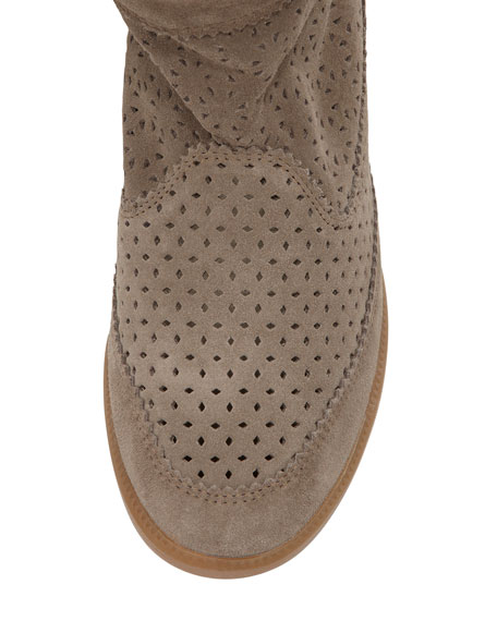 b089cb853be1 Isabel Marant Beslay Perforated Suede Bootie