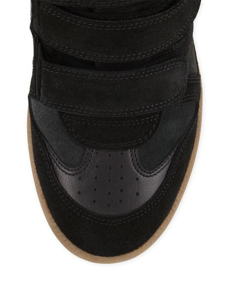 Beckett Suede Wedge Sneaker, Black