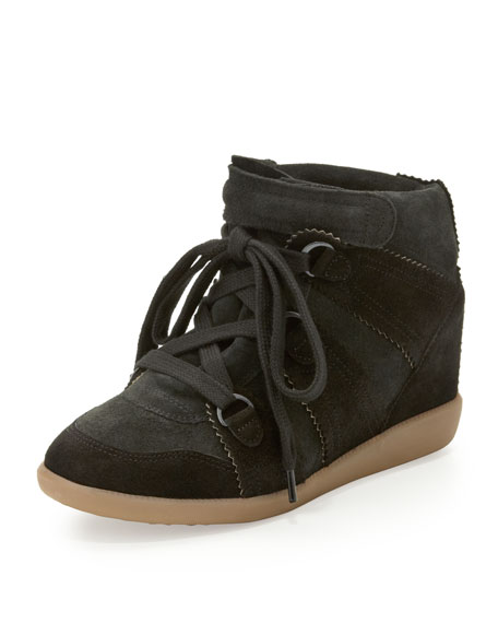 pay with paypal online clearance fake Isabel Marant Bluebel Wedge Sneakers low shipping fee cheap online PuyXQR