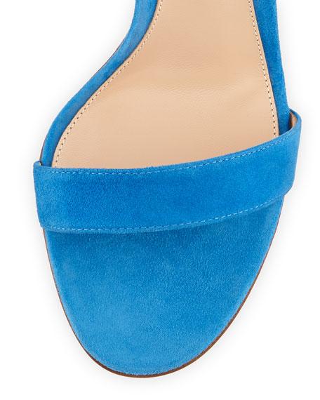 Suede d'Orsay Ankle-Strap Sandal