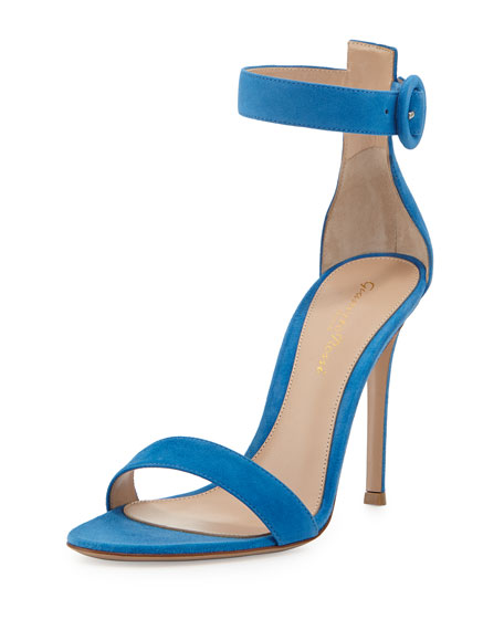 Suede d'Orsay Ankle-Strap Sandal