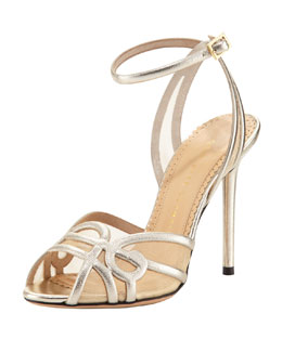 Charlotte Olympia Sugar High Leather Swirl Sandal