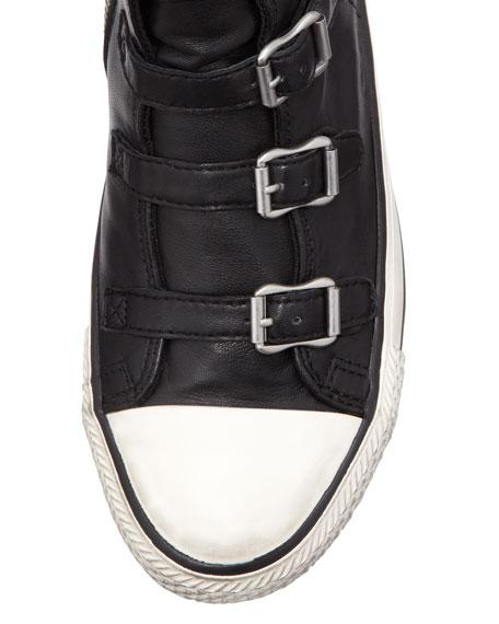 Virgin Buckled High-Top Sneaker, Black
