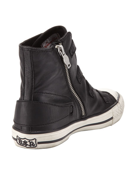 Virgin Buckled High-Top Sneaker, Black