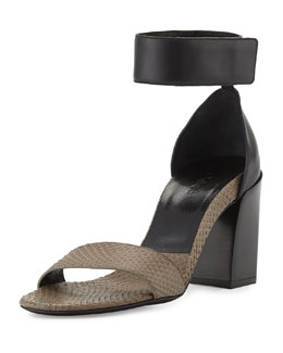 Chloe Chunky Single-Band Snake Sandal
