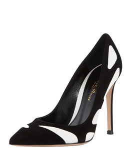 Gianvito Rossi Butterfly Cutout Combo Pump, Black
