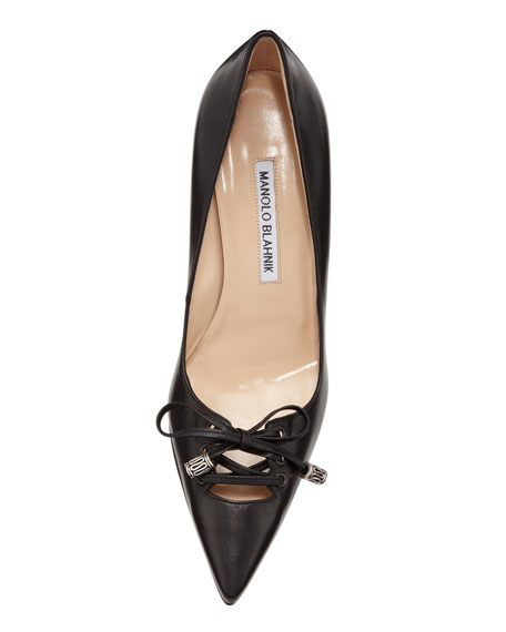 Ferant Lace-Up Pointy Pump