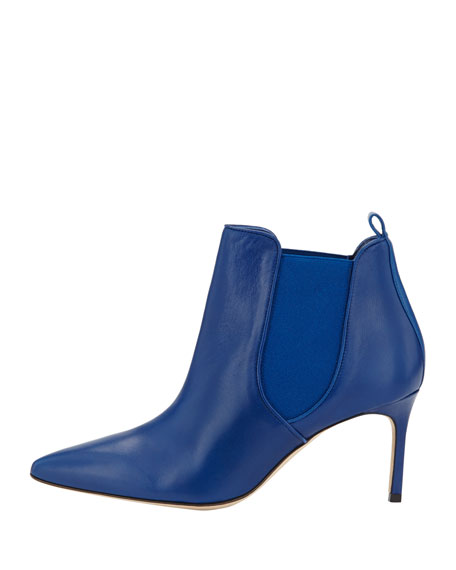 Tungade Pointed Stretch Ankle Boot, Blue